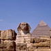 The Great Sphinx in front of the Pyramid of Chefren