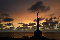 The war memorial at dusk (karen leah) Tags: aberystwyth sunset dusk memorial warmemorial respect remembrance