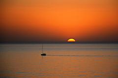 """The Sound Of Silence"" (Roi.C) Tags: sun sunset sky water sea boat seascape landscape outdoor nature season nikkor nikond5300 nikon mediterraneansea silhouette reflection hdr ngc beach skyline sunlight light 2017"