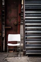 Stuhl an Treppe (Frank Lindecke) Tags: nordart stuhl treppe kunstwerk carlshütte wwwnordartde