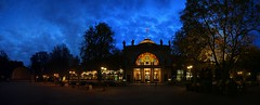 IMG_8927_stitch (AndyMc87) Tags: kurhaus wiesbaden blue hour clouds architecture architektur spielbank hessen trees silhouette city historical building people cars canon eos 6d 2470 l stitch stiched kurpark panorama