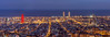 Barcelona skyline panorama at night (antoniobraza) Tags: barcelona panorama skyscraper tower street travel spain view business european urban landmark attraction panoramic skyline oval viewpoint building tourist sightseeing famous high architecture spanish city catalonia blue sky sight mediterranean sea water agbar office europe landscape cityscape capital bluehour hour night