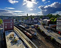 66200 at Newport (robmcrorie) Tags: newport south wales station 66200 margam hartlepool steel coils train rail railway freight dbs class 66 backlit sun nikon d7500 railfan