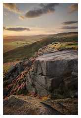 Higger Tor and Stannage Edge - in explore (Dave Fieldhouse Photography) Tags: peakdistrict peaks stannageedge higgertor nationalpark sunset evening heather wildflower summer wwwdavefieldhousephotographycom fuji fujifilm fujixt2 clouds landscape portrait outdoors countryside derbyshire derbyshirelife rocks cliff edge geology