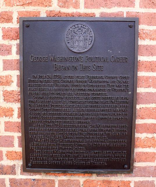 George Washington's Political Career Began on this Site