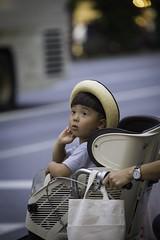 Hakihabara, Tokyo, Japan, 2017 (Photox0906) Tags: asie japon asia japan japanese boy kid child youth bike biking bicycle mother mom street tokyo hakihabara look happiness pride innocence