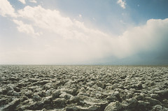 Sea of Salt (H o l l y.) Tags: lomography pentax analog 35mm film death valley devils golf course landscape nature clouds retro indie vintage
