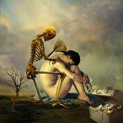 The first temptation (jaci XIII) Tags: tentação homem pessoa surrealismo esqueleto temptation man person surrealism skeleton