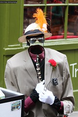 York - North Yorkshire (SteveH1972) Tags: streetphotography street streetperfomer performer york northernengland northyorkshire yorkshire invisibleman 2017 suit hat outside outdoor outdoors feather uk canonef70200mmf28lusm nonis canon70200 700d canon canon700d europe britain british