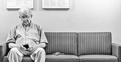 waitingroom waiting alone meditation smartphone bw tonal... (Photo: panache2620 on Flickr)
