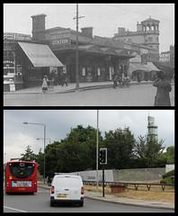 Uxbridge Road station (Tetramesh) Tags: tetramesh london england britain greatbritain gb unitedkingdom uk localhistory nowandthen thenandnow pastandpresent oldlondon lostlondon presentandpast londonpast socialhistory uklocalhistory londonlocalhistory transporthistory londonstransportpastandpresent londonstransportnowandthen londonstransportthenandnow uxbridgeroad uxbridgeroadstation westlondonrailway shepherdsbush shepherdsbushstation londonoverground lorol londonovergroundrailoperations londonovergroundrailoperationsltd tfl britishrailways britishrail networksoutheast railtrack networkrail southern thameswatertower hollandparkroundabout londonboroughofhammersmithandfulham kensingtoncanal counterscreek westlondonjointrailway silverlink w12 w128lb westlondonline connexsouthcentral connex royalgeorge pub 20thoctober 27thmay 1stnovember arrivaraillondon arrivauktrains
