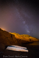 noche en punta vela (3) (pedrojateruel) Tags: mazarrón punta vela playa mar vía láctea bolnuevo
