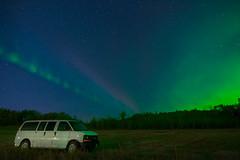 Steve and Vinnie (Len Langevin) Tags: aurora borealis northerlights steve sky night longexposure alberta canada nikon d7100 tokina 1116
