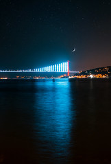 Volume up (WeekendPlayer) Tags: night moon bridge city cityscape istanbul turkey tr