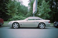 (ニノ Nino) Tags: 35mm film analog analogue olympus mju ii iii stylus epic 35 28mm 45 epson v550 sl mercedes benz champagne car cars auto automotive r129 amg