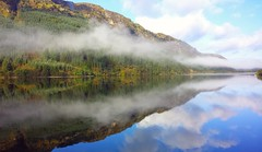 Loch Eck - Reflections on a Scottish Loch. (Gerry Hat Trick) Tags: loch eck scotland reflection reflections mountain mountains scottish trossocks cloud hill water