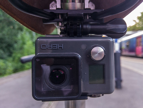 GoPro Hero attached to a saddle