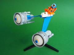 Snow Speeder (David Roberts 01341) Tags: lego future scifi iceplanet snow arctic snowspeeder explorer minifigure minifig space