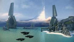 Halo: Combat Evolved   The Beauty of SPV3 (Joshua   Ezzell) Tags: halo halocombatevolved screenshot spv3 covenant flood masterchief cortana elite grunt brute jackal odst marines space videogame cinematic cinematicphotography lensflare sangheili unggoy jiralhanae unsc