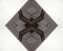 Spider (Ed Sax) Tags: crazygeniuses edsax spider abstract geometric surreal architecture art photoart black white grey