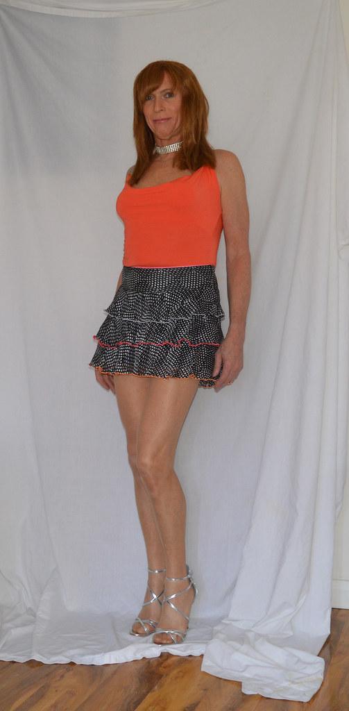 Has Short skirt transvestite something
