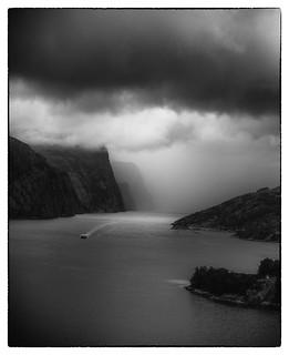 Der Lysefjord - wolkenverhangen