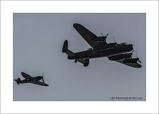 BBMF Lancaster & Spitfire