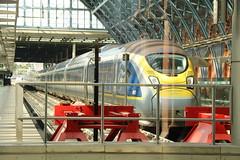 4002 London St. Pancras International 2/9/2017 (Martin Coles) Tags: train trains rail railways railway 4002 londonstpancrasinternational class374 valero eurostar