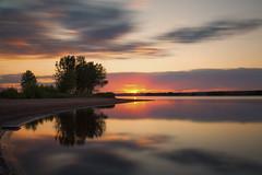 Chatfield State Park (mclcbooks) Tags: chatfieldstatepark lakechatfield colorado sunrise dawn daybreak morning clouds reflections trees silhouettes landscape le longexposure