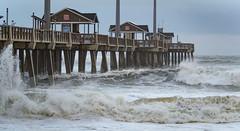 Jennette's Pier-3744 (RogerDMulligan) Tags: jennettes pier waves hurricane jose outerbanks nagshead northcarolina unitedstates us ocean beach