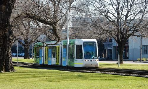 Tram in Grass