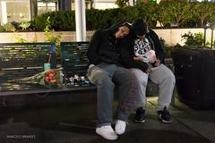 (Marcelo Brando) Tags: 2015 eua nyc novayork usa novembro outono street sleeping sleepy couple newyorkcity burnout
