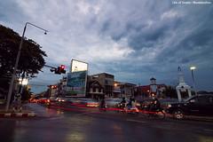 Thailand IMG_8877 (Swebbatron) Tags: thailand asia southeastasia chiangmai city longexposure traffictrails nawaratbridge bridge road sunset twilight riverping travel lonelyplanet lifeofswebb 2015 canon 1100d 1018mm radlab gettotallyrad