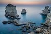 Apulian Twilight (Sony FE 4/16-35) (backsidewalkaround) Tags: apulia apulien beforesunrise langzeitbelichtung longexposure mediterraneo mediterranian meer otrano puglia santandrea sea twilight crepuscolo fishermen mare