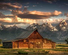 Mormon Row and Barns at Sunrise (sapere18) Tags: 2017 grandteton hdr july mormonrow wyoming summer sunrise