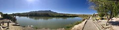 Truth Or Consequences (Chic Bee) Tags: elriograndé riogrande truthorconsequences newmexico nm panorama panoramic river stream loviely scenic view sky blue sooc iphone7plus
