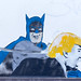 Batman slaps Donald Trump's face (graffiti)