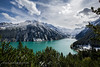 Lake Schlegeis (Jon Bagge) Tags: lakeschlegeis schlegeisspeicher zittertal austria jonbagge canon6d canonef1635mmf4lisusm blue green mountains alps lakes reservoir water sky clouds trees awesomescenery amazinglandscape beautifulnature