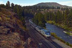 Amtrak 5 (caltrain927) Tags: union pacific railroad amtrak california zephyr passenger train ge p42dc truckee glenshire ca