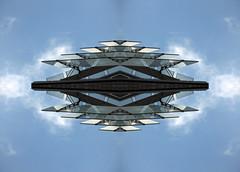 Parallelogram (Ed Sax) Tags: blau abstrakt edsax flug flugzeug scifi science fiction art photoart photokunst