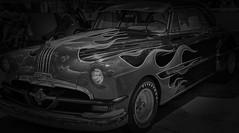 Flame (LeBlanc_Nigel) Tags: flame blackandwhite black white blackwhite firestone tire headlight grill fender bumper