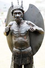 Flying fox man (kthustler) Tags: goroka singsing papuanewguinea tribes huliwigmen mudmen