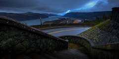 Before the fire (Matt Straite Photography) Tags: columbiarivergorge columbia gorge river vista vistahouse canon sunset blue bluehour