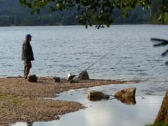 Lac de Longemer - Vosges/Lorraine - pecheur (thobern1) Tags: lacdelongemer longemer geradmer vosges vogesen lorraine lothringen france vologne lac see lake grandest