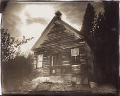 Forest City School vdb (efo) Tags: forestcity california schoolhouse abandoned vandyke altprocess bw film wehmanfieldcamera 8x10