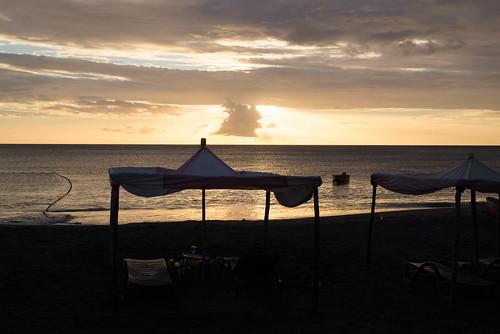Sonnenuntergang, Mero, Westküste, Dominica