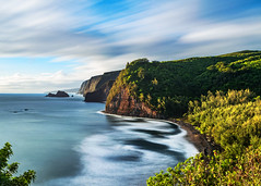 Pololu Valley Lookout (Hawaii) (Insite Image) Tags: pololuvalleylookout cliffs bigisland hawaii longexposure ocean scenic pololūvalley trail