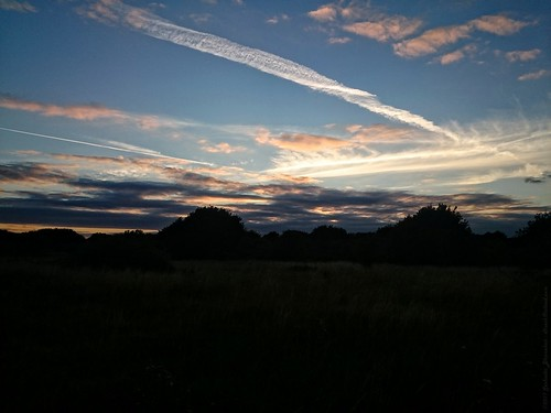 An evening blue sky