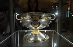 Dublin Ireland Archeological Museum. 8th Cent. AD Chalice     SAM_4003 (waitingfortrain) Tags: dublinirelandarcheologicalmuseum chalice silverchalice8thcentad