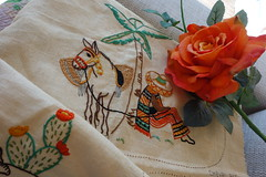 Early days... (Celeste33) Tags: embroidery needlework mexican horse orange sewing childhood crafts artistry cactus cacti orangerose